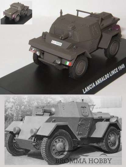 Lancia Ansaldo LInce 1949 tank Carabinieri Policía police  1:43 Agostini *38
